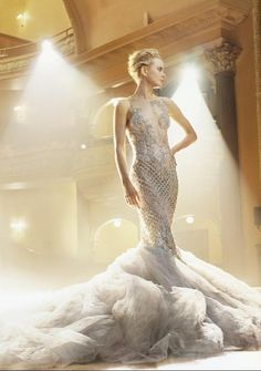 .white glamour gown