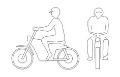 Arquivos modelo de moto — Bloco Autocad