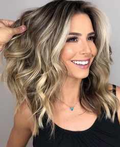 62 best of balayage shadow root babylights hair colors for 2019 44 Grey Balayage, Hair Color Balayage, Hair Highlights, Color Highlights, Blonde Hair With Brown Highlights, Short Balayage, Bayalage, Balayage Brunette To Blonde, Natural Looking Highlights