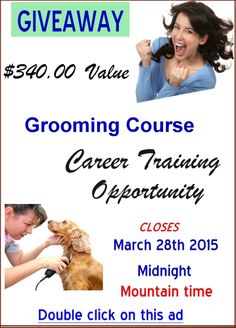 PLEASE REPIN ~ USA Only! ~ Home study grooming course with DVD's. This is the first and maybe the last giveaway I've done. So if you have an interest in learning to groom please take this free opportunity! Please Repin!! And tell your friends!