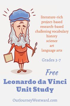 quick Art therapy activities This free Leonardo da Vinci unit study will give your grade students plenty of options to learn about the history, science, and art of the Renaissance era. Art History Projects For Kids, Art Therapy Projects, Art Therapy Activities, Art Projects, School Projects, Project Ideas, School Ideas, History Timeline, History Memes