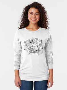 """""""Black and white rose"""" T-shirt by augustinet 