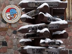 Some distances from the Santa Claus Village at the Arctic Circle in Finland