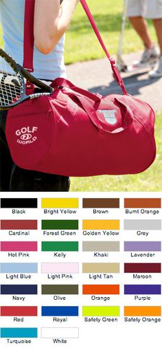 UltraClub Barrel Duffel Bags For Your Company $16.95