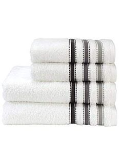 Seville towels in White