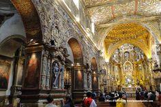 Gold leafed interior of Iglesia de San Francisco, Quito, Ecuador