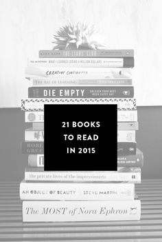 21 Books to read in 2015.