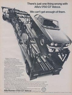 1969 Alfa Romeo 1750 GT Veloce Car Ad Vintage Automobile Photo Gran Turismo Advertising Print Garage Wall Art Decor