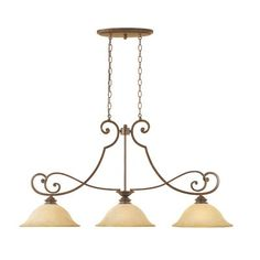 Buy the Designers Fountain Forged Sienna Direct. Shop for the Designers Fountain Forged Sienna Mendocino 3 Light Island / Billiard Fixture and save. Traditional Kitchen Island Lighting, Traditional Pendant Lighting, Bronze Chandelier, Chandelier Lighting, Vanity Lighting, Chandeliers, Glazed Glass, Light Bulb Bases, Shop Lighting