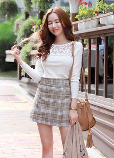 Hair Color Asian Korean Fashion For 2019 Korean Fashion Trends, Korean Street Fashion, Asian Fashion, Hair Color Asian, Mini Skirt Style, Corporate Fashion, Pretty Asian, Korean Outfits, Korean Women