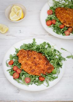 I could have called these Cornflake-Crunchy Chicken Cutlets as the crisp coating is provided not by breadcrumbs, but by cornflakes. This is…