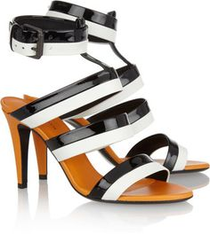 Bottega Veneta Three-tone leather sandals