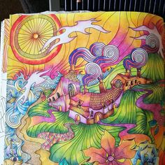#TheMagicalcity #coloringbook#lizziemarycullen#adultcoloringbook #coloredpencil#derwentinktense