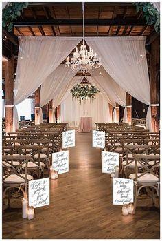 Wedding Signage, Wedding Ceremony, Our Wedding, Dream Wedding, Indoor Wedding Venues, Rustic Wedding Venues, Wedding Places, Best Wedding Ideas, Godly Wedding