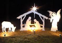 diy nativity scene outdoor - Google Search                                                                                                                                                                                 More