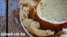 Easy spinach cob dip