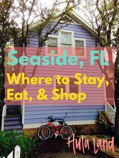 Florida: Where to Stay, Eat, and Shop Seaside, Florida: The best places to eat and shop plus the best things to do!Seaside, Florida: The best places to eat and shop plus the best things to do! Florida Vacation, Florida Travel, Vacation Places, Florida Beaches, Vacation Spots, Travel Usa, Places To Travel, Places To Go, Travel Destinations