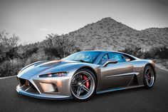 American made Falcon F7 featuring an 1,100 H.P. Lingenfelter twin turbo V-8 capable of propelling this hyper car to speeds of over 200 mph with a 0-60 time of just 2.7 seconds. MSRP: $195,000 #hypercars
