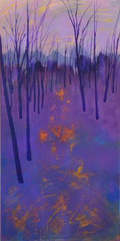 """Being with golden footsteps    ...........Saatchi Online Artist: gordon sellen; Acrylic, 2013, Painting """"Metcalfe Twilight """""""