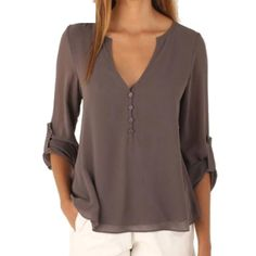 Autumn Fashion Women deep v neck button long sleeve shirt Price $29.21 AUD Click the link in my bio ---> @soulkreedclothing and grab yours today while stocks last. Sign up to our newsletter and get 15% off all purchases! Clothing Length: Regular Sleeve Style: Regular Pattern Type: Solid Style: Casual Fabric Type: Chiffon Material: Cotton,Polyester,Spandex,Acrylic Collar: V-Neck Sleeve Length: Full item code: H008 season: spring,Autumn size : S-5XL color: 8 colors Sty..