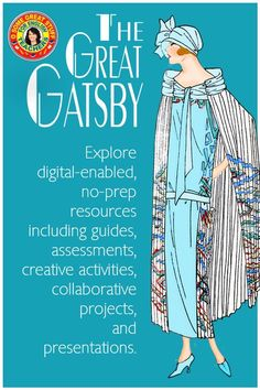 LOOKING TO ENHANCE YOUR LESSONS FOR THE GREAT GATSBY? Explore resources including reading and discussion chapter guides, formative and summative assessments, creative activities, collaborative projects and presentations. Engaging activities for any level high school students. Digital-enabled PDFs for in-class or online distance learning. No-prep for busy teachers. Fabulous, compelling lessons for secondary ela, high school English. Formative And Summative Assessment, Busy Teachers, High School English, The Great Gatsby, Classroom Resources, Creative Activities, High School Students, Distance, Presentation