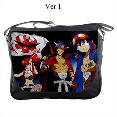 Gurren Lagann, Messenger Bag, Anime, Yoko, Simon, Kamina, Manga, Laptop Bag, Notebook Bag, Bag, Messanger, Kawaii, Littner, Tengen, Toppa