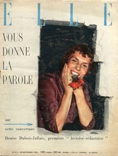 Denise Dubois, photo by Jeanloup Sieff, French Elle, September 1955