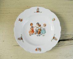 Antique Child's Dish Transferware Children