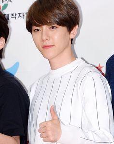Baekhyun with brown hair
