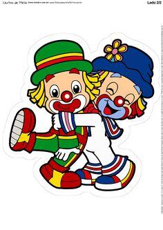 Centro de Mesa Patati e Patata 1-2 Circus Birthday, 2nd Birthday Parties, Birthday Cards, Clown Party, Circus Party, Clown Cupcakes, Cute Clown, Send In The Clowns, Scrapbook Stickers