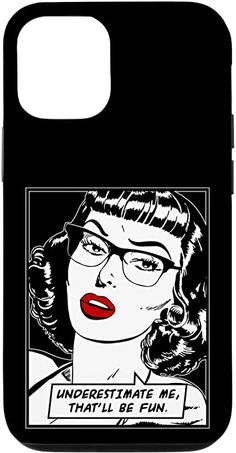 Amazon.com: iPhone 12/12 Pro Underestimate Me That'll Be Fun Vintage Pop Art Girl Quote Case Vintage Pop Art, Vintage Comic Books, Vintage Comics, Retro Vintage, Samsung Galaxy Gift, Samsung Cases, Feminism Quotes, Pop Art Girl, Buy Iphone