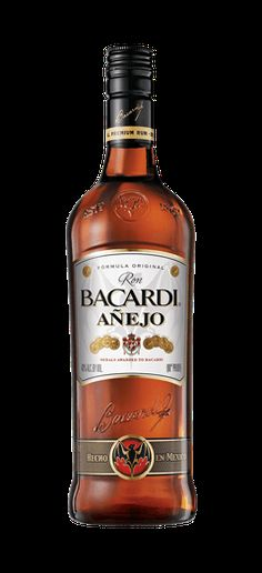 Bacardí Añejo is a premium aged rum with a smooth but long finish. Read all about this and many more delightful rum drinks today. Cocktail Recipes, Cocktails, Drink Recipes, Aged Rum, Puerto Rico Food, Bacardi Rum, Liquor Bottles, Scotch Whisky, Whiskey