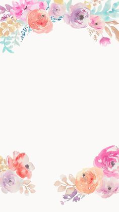 Digital art illustration floral; watercolour (watercolor) nature wallpaper // Cuptakes 12/2/15 tjn