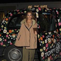 Nicole Bass Arrives at Novikov Restaurant in London