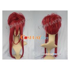 The Last Demon King Keena Soga Cosplay Wig ($60) ❤ liked on Polyvore featuring beauty products, haircare, hair styling tools, wigs, cosplay and hair
