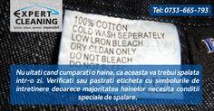 Nu uitati cand cumparati o haina, ca aceasta va trebui spalata intr-o zi. Verificati sau pastrati eticheta cu simbolurile de intretinere deoarece majoritatea hainelor necesita conditii speciale de spalare.