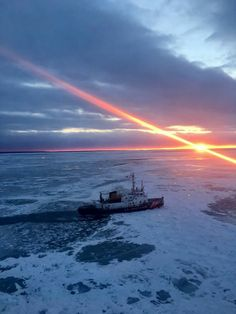 USCGC Biscayne Bay based in St. Ignace, Michigan - part of the U.S. Coast Guard Great Lakes icebreaking fleet.
