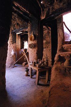 Old room, Ait-Benhaddou Kasbah, Morocco by lrsmethurst, via Flickr