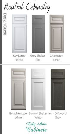 Shop Neutral Cabinet Colors at Lily Ann Cabinets! Get 50% off box store pricing + FREE 3D kitchen design. Visit our website today to view our selection. |#KitchenCabinets | Neutral Cabinet Colors | White Cabinets | Grey Cabinets | Cabinet Paint Colors | P