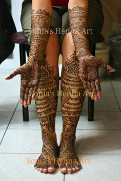 Full Indian intricate bridal mehndi