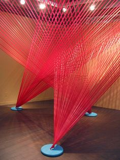 Various tape installations by Megan Geckler