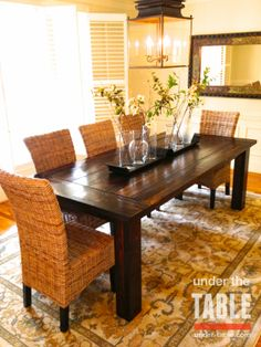 It will be mine.  Beautiful traditional farmhouse table. Under-table.com