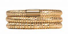 Golden Reptile, 54cm/7.0inch, Leather bracelet