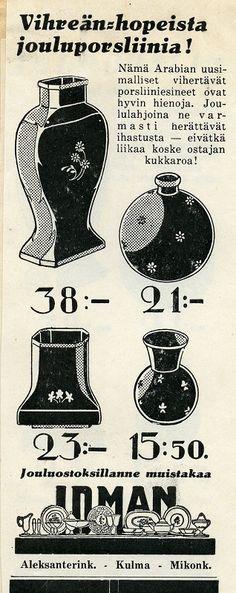 1930-luvun Arabian jouluporsliinia