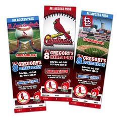 Baseball Themed Birthday Invitations