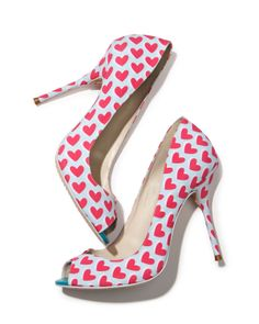 Sophia Webster Peron Hearts peep-toe pump
