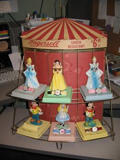 Ingersoll 1960s Disney Character Watch Store Display Snow White Mickey Mouse   eBay
