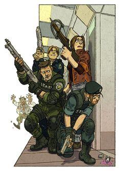 Tyrant Resident Evil, Resident Evil Anime, Evil Pictures, Videogames, Leon S Kennedy, Evil Games, Military Drawings, Evil Art, Jill Valentine