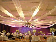 como hacer decoracion con telas en el techo - Buscar con Google