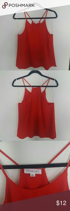 RED STELLA Luce top Worn once. Feel free to ask any questions and make an offer! :) Stella Luce  Tops Blouses